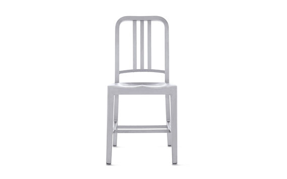 1006 Navy® Side Chair with Brushed Finish