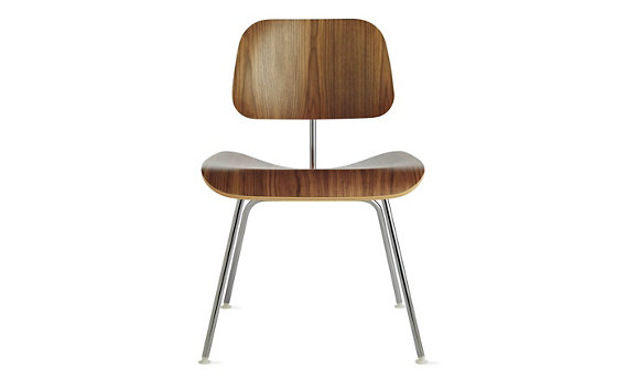 Eames® Molded Plywood Dining Chair (DCM), Chrome Base