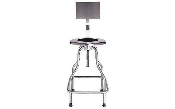 Precision Stool with Backrest