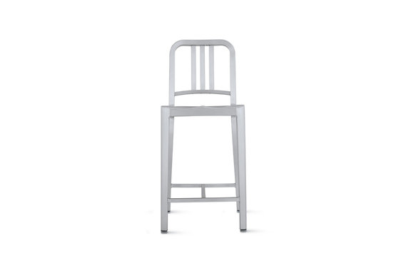 1006 Navy Counter Stool Brushed Design Within Reach