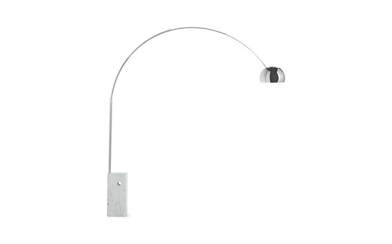 Arco Floor Lamp with White Base