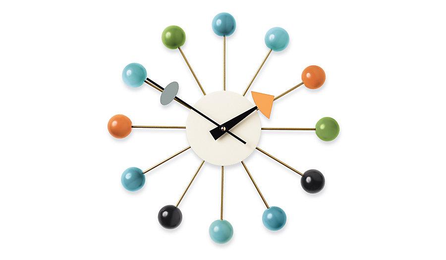 nelson ball clock multi color vitra design within reach dwr modern ebay. Black Bedroom Furniture Sets. Home Design Ideas