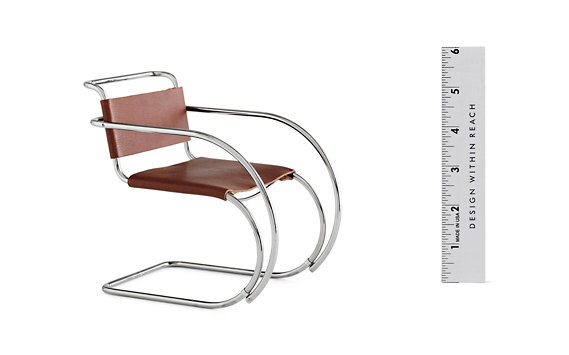Vitra Miniatures Collection: Mies van der Rohe MR20 Leat