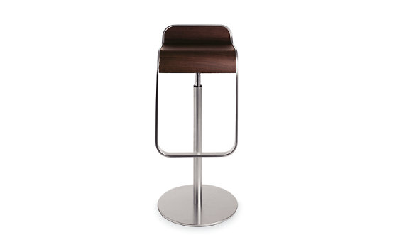 LEM Piston Stool with Wood Seat