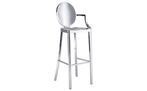 Kong Barstool with Arms - Polished
