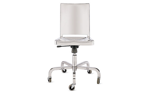 Hudson Armless Task Chair, Polished