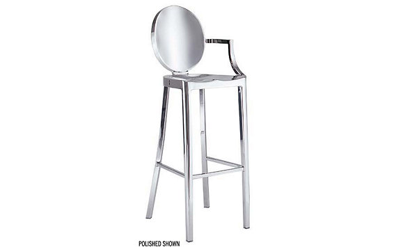 Kong Barstool with Arms - Brushed