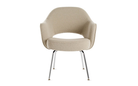 Saarinen Executive Armchair Metal - Boucle