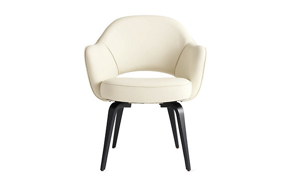 Saarinen Executive Armchair Wood - Volo Leather