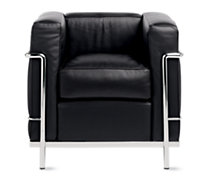 LC2 Petit Modele Armchair – Chrome Frame/Color Leather