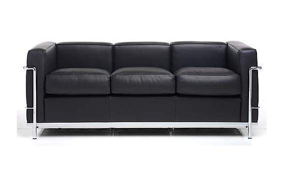 LC2 Petit Modele Three Seat Sofa – Chrome Frame/Color Leather