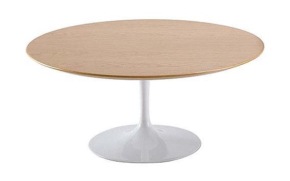 Saarinen Low Oval Coffee Table Veneer Black Cherry Design Within Reach