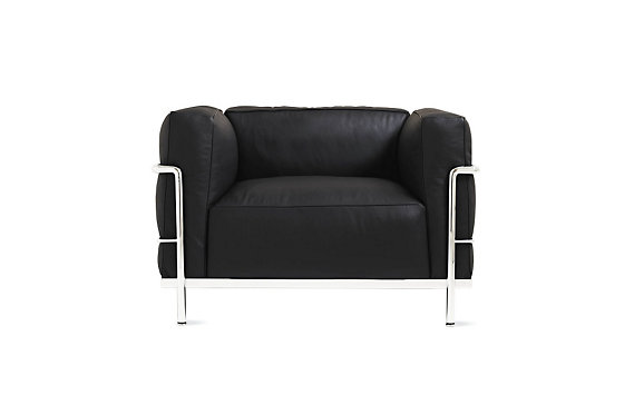 LC3 Grand Modele Armchair, Down Cushions - Chrome Frame/Color Leather