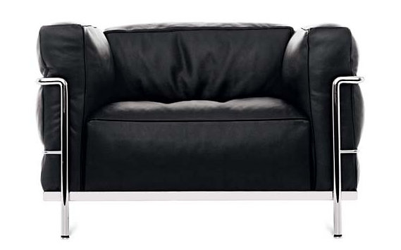 LC3 Grand Modele Armchair – Chrome Frame/Blk Leather