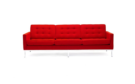 Florence Knoll Sofa in Volo Leather
