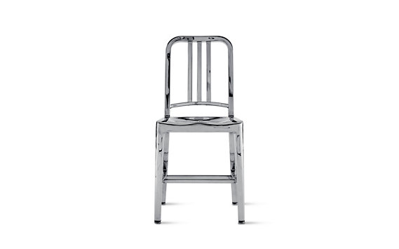 1006 Navy® Side Chair with Polished Finish