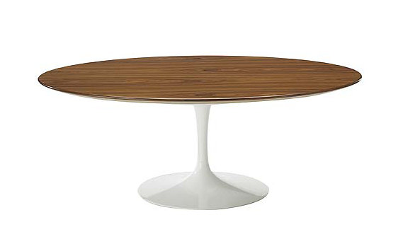 Saarinen Low Oval Coffee Table Rosewood Black Rosewood Design Within Reach