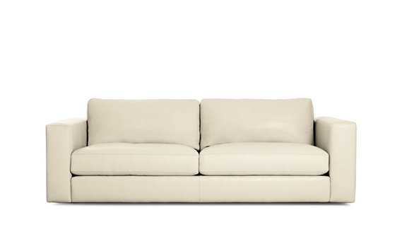 "Reid 86"" Sofa in Leather"