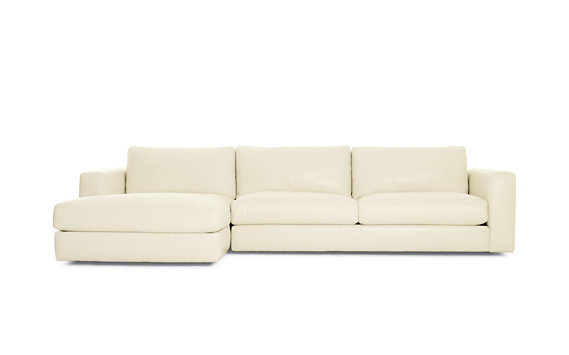 Reid Sectional Chaise Left in Leather