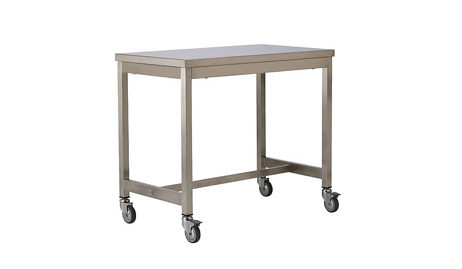 Counter Height Metal Table : Details about Quovis Counter-Height Table Stainless Steel DWR Design ...