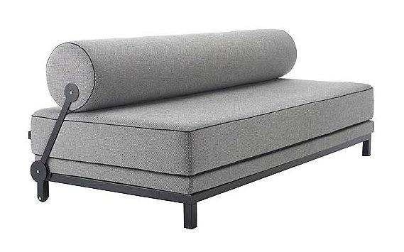 Twilight Sleep Sofa Black Frame Slip Cover Design