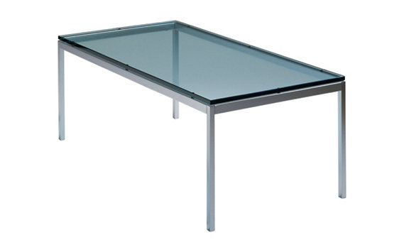 Florence Knoll Rectangular Coffee Table with Glass Top