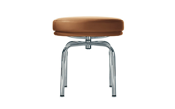 LC8 Swivel Stool - Chrome Frame/Color Leather