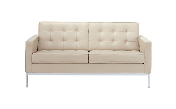 Florence Knoll Two-Seater Sofa in Classic Bouclé