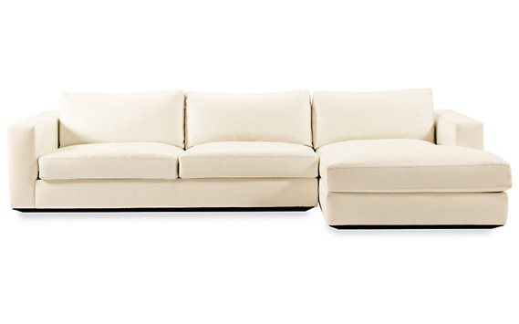 Reid Sectional Chaise Right in Fabric