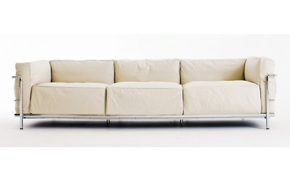 LC3 Grand Modele Three-Seat Sofa - Chrome Frame/Color Leather