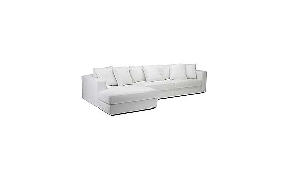 Reid Sectional Chaise Left in Ultrasuede