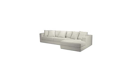 Reid Sectional Chaise Right in Ultrasuede