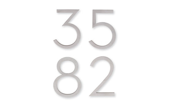 Neutra Modern House Numbers in Aluminum