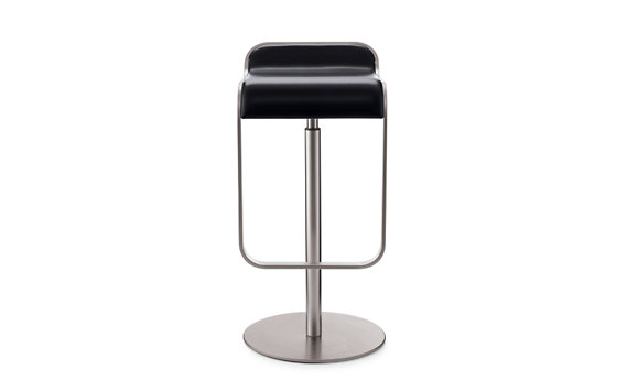 Lem Piston Stool Leather Seat Black Design Within