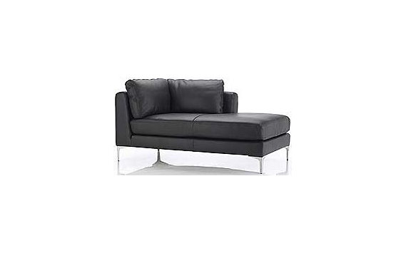 Albert Right-Facing Chaise in Sierra Leather