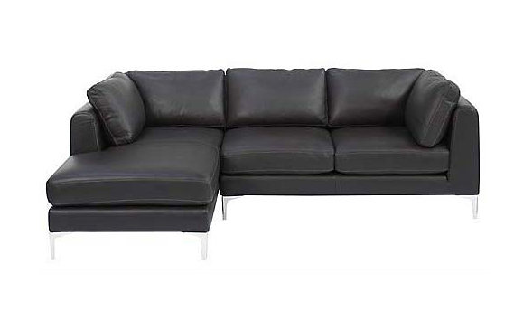 Albert Sectional Chaise Left in Sierra Leather