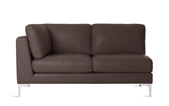 Albert One-Arm Sofa, Left in Vienna Leather