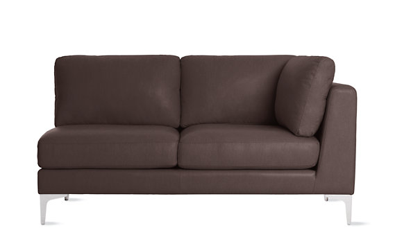 Albert One-Arm Sofa, Right in Vienna Leather