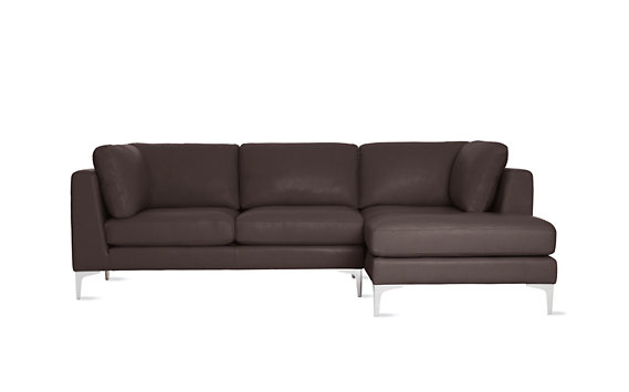 Albert Sectional Chaise Right in Vienna Leather