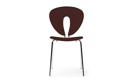 Globus Chair in Plastic with Polished Frame