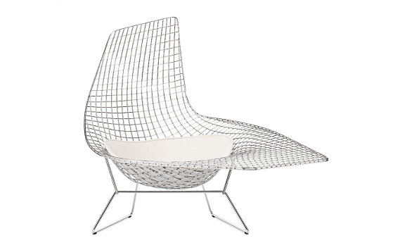 Bertoia Asymmetric™ Chaise with Seat Pad