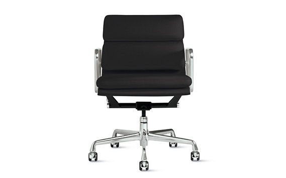 Eames® Soft Pad Management Chair, Vicenza Leather, Chrome Legs