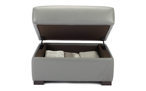 Soto Storage Ottoman in Ultrasuede