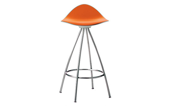Onda Counter Stool with Chrome Frame
