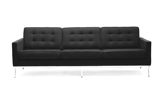 Florence Knoll Sofa in Classic Bouclé