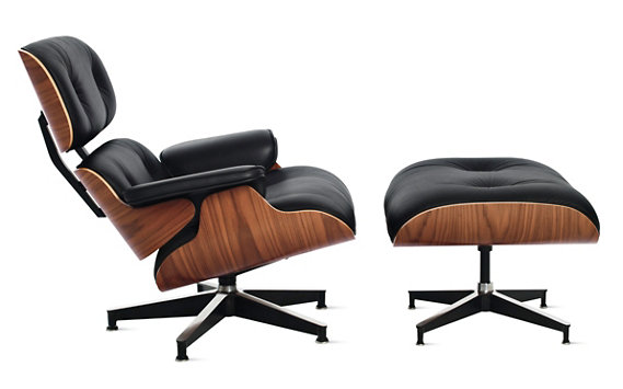 "Eames® Lounge and Ottoman | <font color=""red"">Quick Ship</font>"