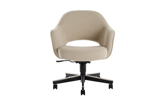 Saarinen Executive Armchair with Casters - Boucle