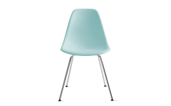 Eames® Molded Plastic 4-Leg Side Chair (DSX), Chrome base