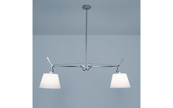 "Tolomeo Double Suspension Lamp, 10"" Shades"
