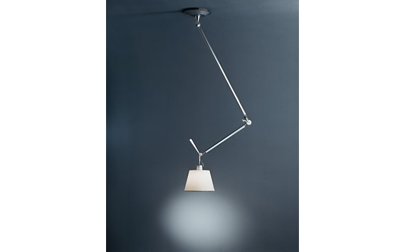 Tolomeo Single Suspension Lamp, Aluminum Shade